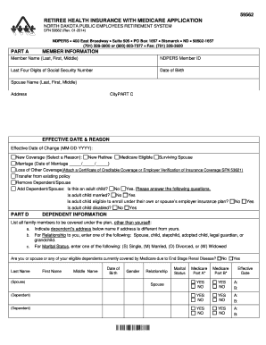 ndpers medicare for spouse form