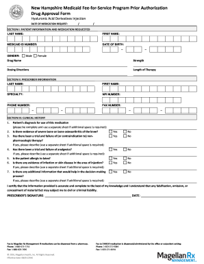 Nh Magellan Medicaid Prior Authorization Form