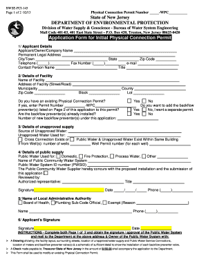 Trenton Physical Connection Permit - Fill Online, Printable ...