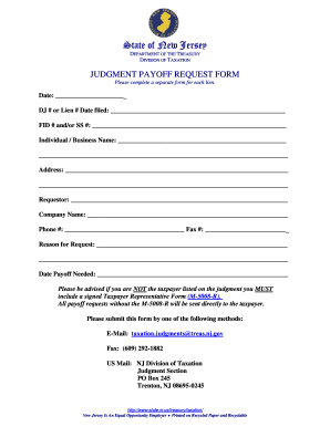 Pay Off Request Form - Fill Online, Printable, Fillable, Blank ...