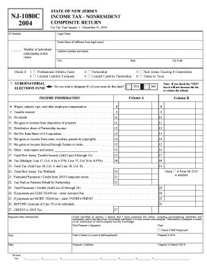 Nj Form 1080 C Instructions - Fill Online, Printable, Fillable ...