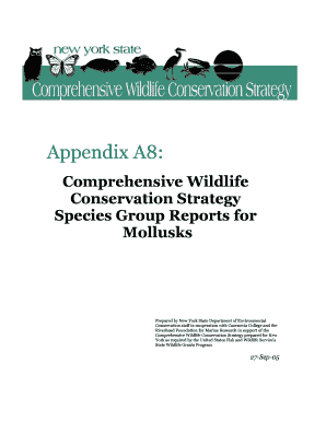 Appendix A8: Mollusks. New York State Comprehensive Wildlife Conservation Strategy, Appendix A: Taxonomic group reports from the CWCS Planning Database, A8: Mollusks - dec ny