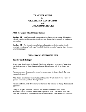 Fillable online ok teacher guide to oklahoma landforms and oklahoma fill online publicscrutiny
