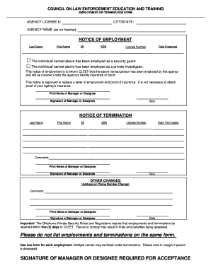 Notice of employment cessation fillable form