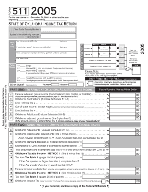 Fillable Online tax ok 511 Form-05-2D. 511 Form-05-2D - tax ok Fax ...