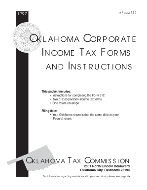 Oklahoma Corporate Income Tax Forms and Instructions - tax ok