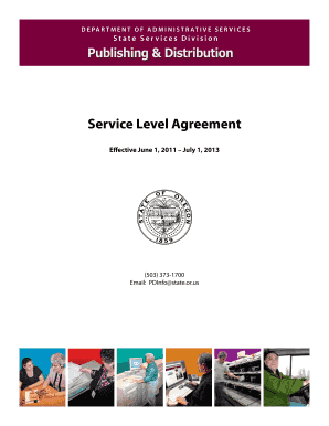 service level agreement state of oregon form
