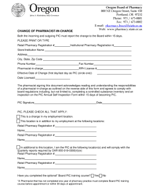 oregon board of pharmacy power of attorney form