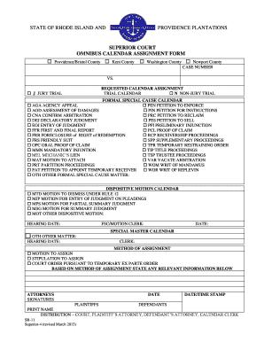 Rhode Island Court Forms