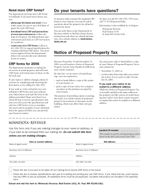 Certificate Of Rent Paid Form Mn 2005 - Fill Online, Printable ...