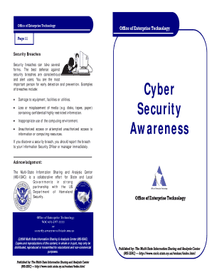 cyber security brochure template form