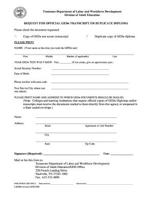 Pa Ged Transcripts Request Form - Fill Online, Printable, Fillable ...