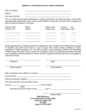 Bill Of Sale Form Texas General Affidavit Templates