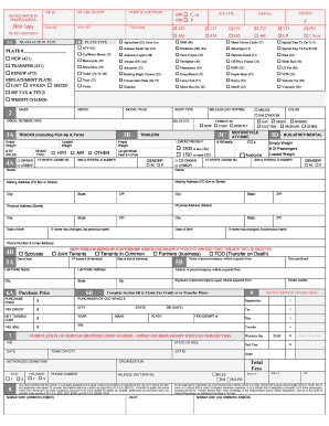 Fillable Online dmv vermont Registration/Tax/Title Application ...