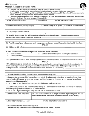 Medication Concent Form - Fill Online, Printable, Fillable, Blank ...