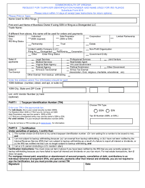 Virginia State W 9 Form - Fill Online, Printable, Fillable, Blank ...