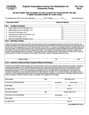 VA-8453C Virginia Corporation Income Tax Declaration for ... - tax virginia