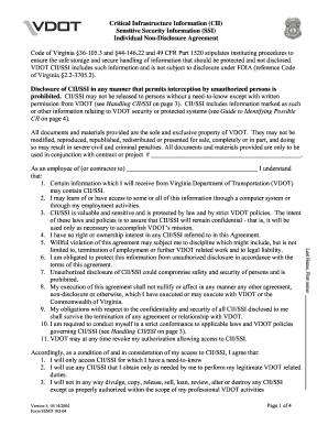 Vendor Confidentiality Statement For Access To Virginia Department Of  Transportation (VDOT) Information And Security
