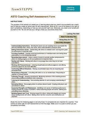 How To Fill A Self Assessment Form Of Coaching - Fill Online ...