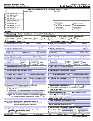 Form I-130 Templates - Fillable & Printable Samples for PDF, Word ...
