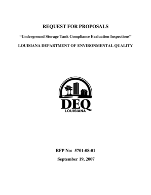Fillable Online deq louisiana Request for proposals