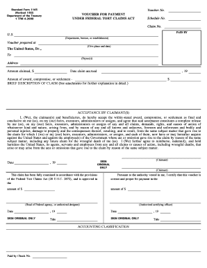 Standard Form 1145 - Fill Online, Printable, Fillable ...