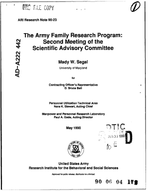 Fillable family care plan army example edit print download the army family research program second meeting of the dtic dtic sciox Image collections