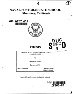 naval postgraduate school monterey california thesis Naval postgraduate school monterey, california thesis approved for public release: distribution is unlimited improvised explosive devise placement.