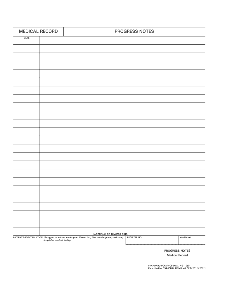 printable progress notes template
