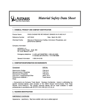 Safety data sheet fillable template form