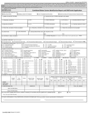 Mcs 150 form templates fillable printable samples for for How to obtain a motor carrier number