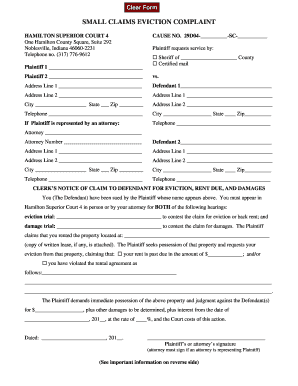 Extension On Eviction Indiana - Fill Online, Printable, Fillable ...