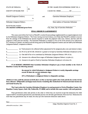 How To File A Final Order Of Garnishment In The State Of ...