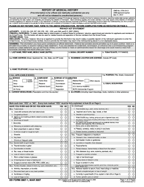 2007 Form DD 2807-1 Fill Online, Printable, Fillable, Blank ...