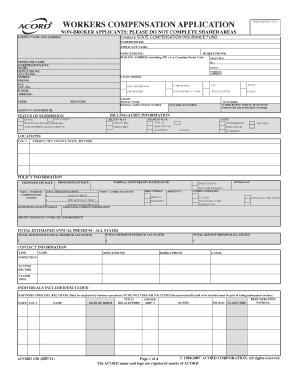 Acord 130 Fillable Form Non Broker Accounts - Fill Online ...