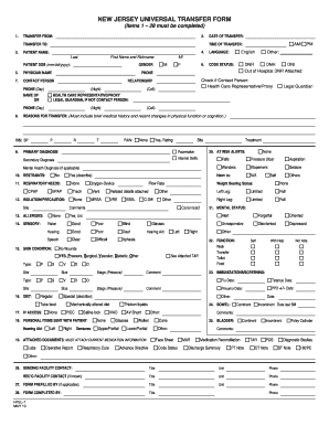 Nj Universal Transfer Form Electronically - Fill Online, Printable ...