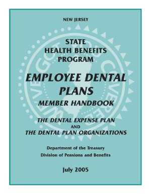 Fillable Online state nj SECTION TWO EMPLOYEE DENTAL PLANS - State