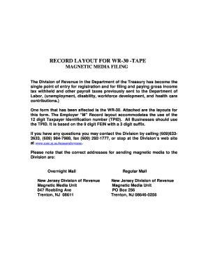 Nj Wr30a Form - Fill Online, Printable, Fillable, Blank | PDFfiller