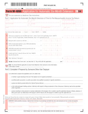Massachusetts M 4868 Filable Form - Fill Online, Printable ...