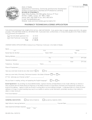 pharmacy technician application form Pharmacy technician application  last two months) have registered for naplex  and utah mpje completed temporary form signed by supervising pharmacist.