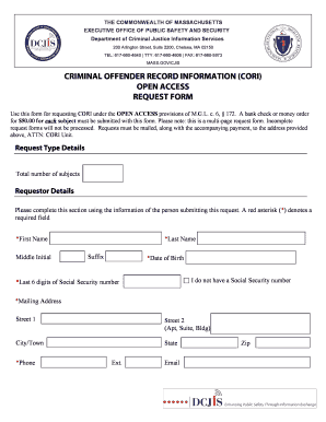 massachusetts cori request form