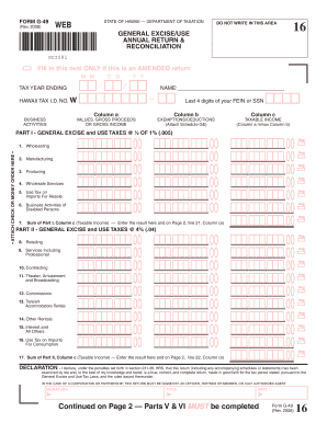 Form G 49 General Excise - Fill Online, Printable, Fillable, Blank ...