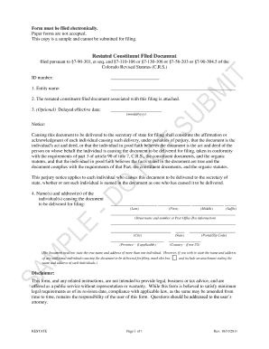 Colorado articles of incorporation fillable form