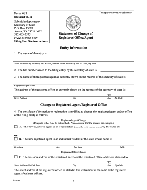 Texas Form 401 - Fill Online, Printable, Fillable, Blank | PDFfiller