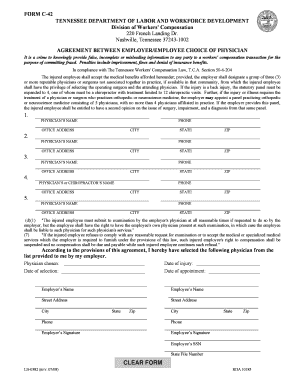 Printable Tennessee Unemployment Claim Form - Fill Online ...
