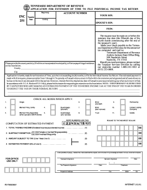 tennessee form inc 251