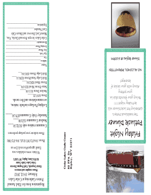 Potluck fillable form