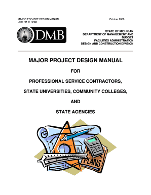 fillable online michigan major project design manual state of rh pdffiller com Professional Construction Services Ripley WV construction and professional services manual