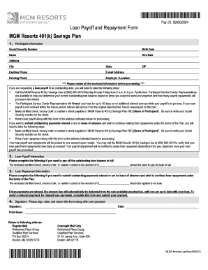 Mgm 401k phone number form fill online printable fillable blank