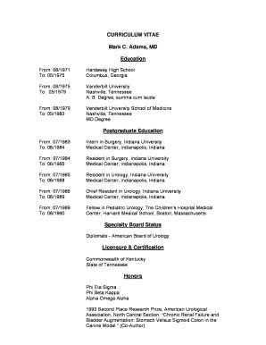 Dr. Adams ' CV - Vanderbilt University Medical Center - mc vanderbilt